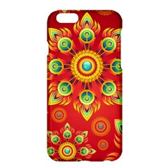 Red and Orange Floral Geometric Pattern Apple iPhone 6 Plus/6S Plus Hardshell Case