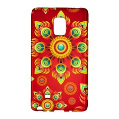 Red and Orange Floral Geometric Pattern Galaxy Note Edge