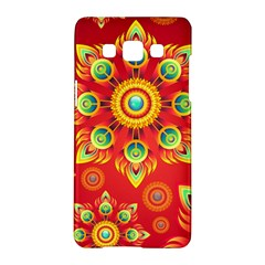 Red and Orange Floral Geometric Pattern Samsung Galaxy A5 Hardshell Case