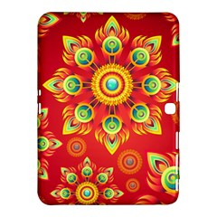 Red and Orange Floral Geometric Pattern Samsung Galaxy Tab 4 (10.1 ) Hardshell Case