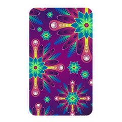 Purple and Green Floral Geometric Pattern Memory Card Reader