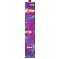 Purple and Green Floral Geometric Pattern Large Book Marks