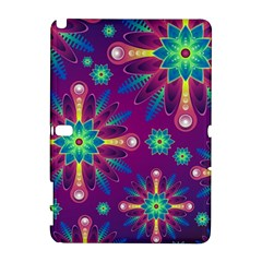 Purple and Green Floral Geometric Pattern Galaxy Note 1