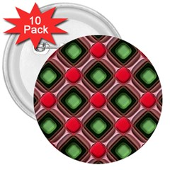 Gem Texture A Completely Seamless Tile Able Background Design 3  Buttons (10 Pack)