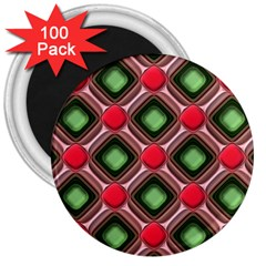 Gem Texture A Completely Seamless Tile Able Background Design 3  Magnets (100 pack)