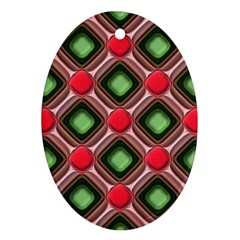 Gem Texture A Completely Seamless Tile Able Background Design Oval Ornament (two Sides)
