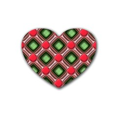 Gem Texture A Completely Seamless Tile Able Background Design Rubber Coaster (Heart)