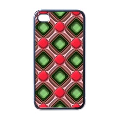Gem Texture A Completely Seamless Tile Able Background Design Apple iPhone 4 Case (Black)