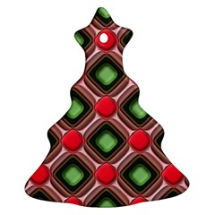 Gem Texture A Completely Seamless Tile Able Background Design Christmas Tree Ornament (Two Sides)