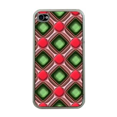 Gem Texture A Completely Seamless Tile Able Background Design Apple iPhone 4 Case (Clear)
