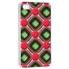 Gem Texture A Completely Seamless Tile Able Background Design Apple iPhone 4/4s Seamless Case (White)