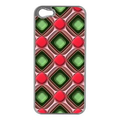 Gem Texture A Completely Seamless Tile Able Background Design Apple Iphone 5 Case (silver)
