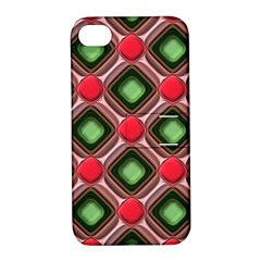 Gem Texture A Completely Seamless Tile Able Background Design Apple iPhone 4/4S Hardshell Case with Stand