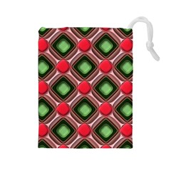 Gem Texture A Completely Seamless Tile Able Background Design Drawstring Pouches (large)