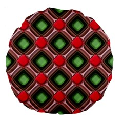 Gem Texture A Completely Seamless Tile Able Background Design Large 18  Premium Flano Round Cushions