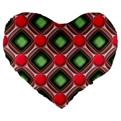 Gem Texture A Completely Seamless Tile Able Background Design Large 19  Premium Flano Heart Shape Cushions