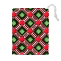 Gem Texture A Completely Seamless Tile Able Background Design Drawstring Pouches (Extra Large)