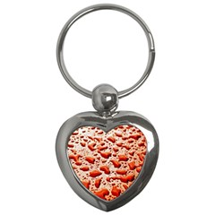 Water Drops Background Key Chains (Heart)