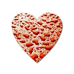 Water Drops Background Heart Magnet