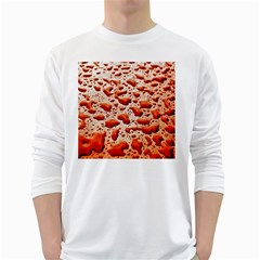 Water Drops Background White Long Sleeve T-Shirts