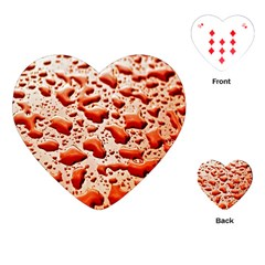 Water Drops Background Playing Cards (heart)