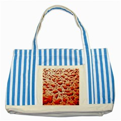 Water Drops Background Striped Blue Tote Bag