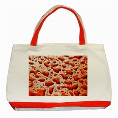 Water Drops Background Classic Tote Bag (red)