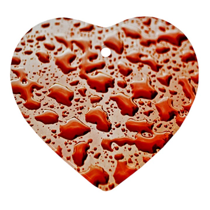 Water Drops Background Heart Ornament (Two Sides)