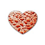 Water Drops Background Rubber Coaster (Heart)  Front