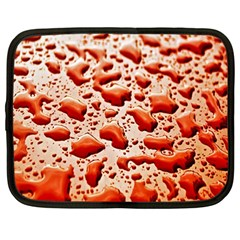 Water Drops Background Netbook Case (large)