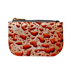 Water Drops Background Mini Coin Purses