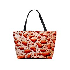 Water Drops Background Shoulder Handbags
