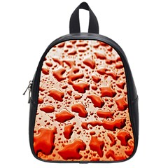 Water Drops Background School Bags (Small)