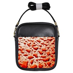 Water Drops Background Girls Sling Bags