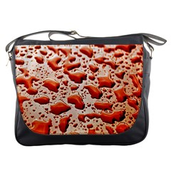 Water Drops Background Messenger Bags