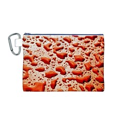 Water Drops Background Canvas Cosmetic Bag (m)