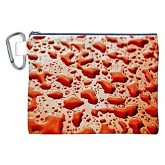 Water Drops Background Canvas Cosmetic Bag (XXL)