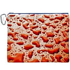 Water Drops Background Canvas Cosmetic Bag (XXXL)