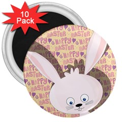 Easter bunny  3  Magnets (10 pack)