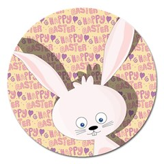 Easter bunny  Magnet 5  (Round)