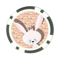 Easter bunny  Poker Chip Card Guard
