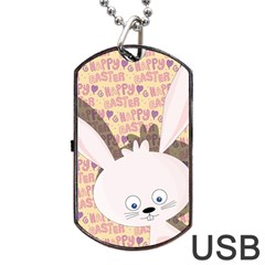Easter bunny  Dog Tag USB Flash (One Side)