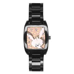 Easter bunny  Stainless Steel Barrel Watch