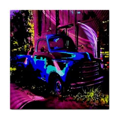 Abstract Artwork Of A Old Truck Tile Coasters
