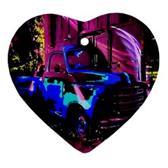 Abstract Artwork Of A Old Truck Ornament (Heart)