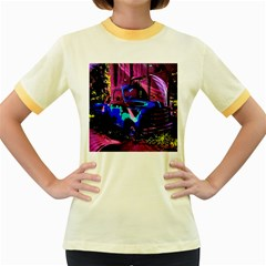 Abstract Artwork Of A Old Truck Women s Fitted Ringer T Shirts