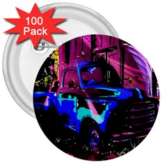 Abstract Artwork Of A Old Truck 3  Buttons (100 Pack)