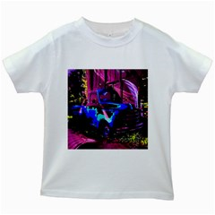 Abstract Artwork Of A Old Truck Kids White T-Shirts