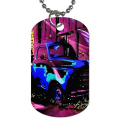 Abstract Artwork Of A Old Truck Dog Tag (One Side)
