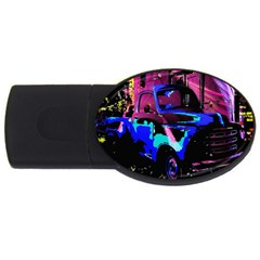 Abstract Artwork Of A Old Truck USB Flash Drive Oval (1 GB)